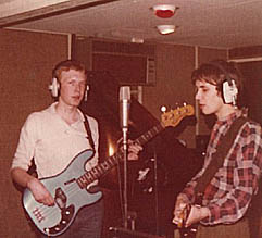 Kevin & Steve - first recording sessions for Radar 1978